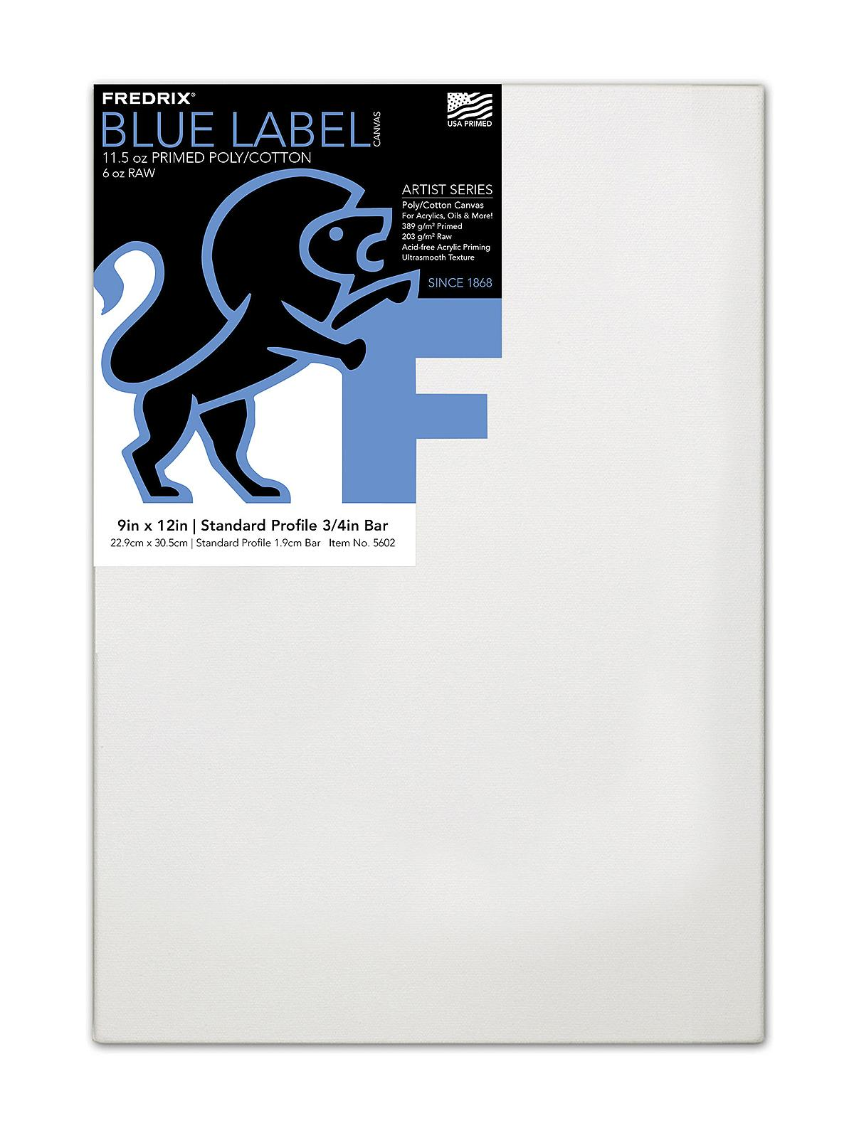 Fredrix Blue Label Ultra-Smooth Portrait Grade Pre-Stretched Artist ...