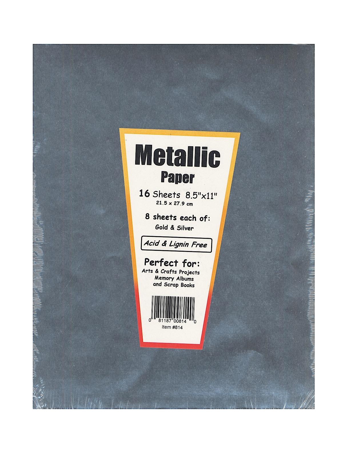 Hygloss metallic foil paper for Silver foil paper craft