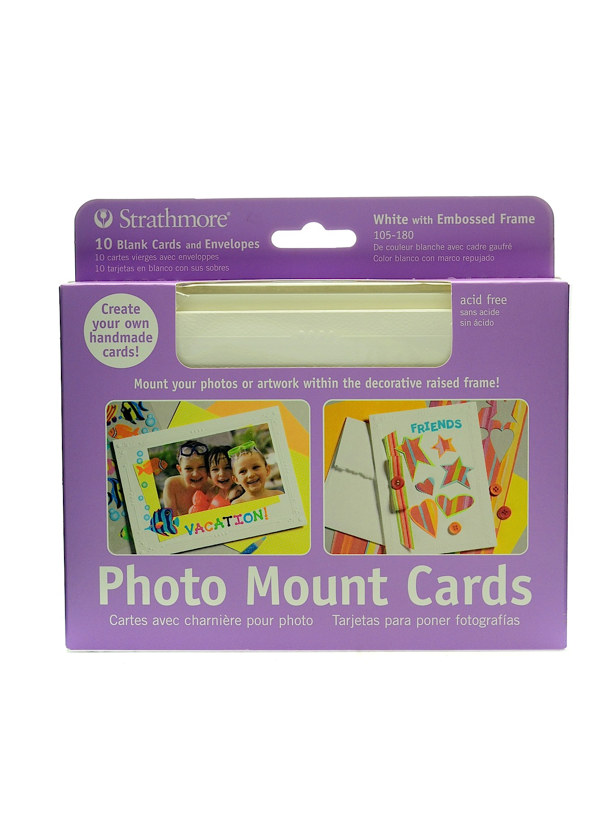Strathmore photo mount greeting cards misterart photo mount greeting cards white pack of 10 kristyandbryce Image collections