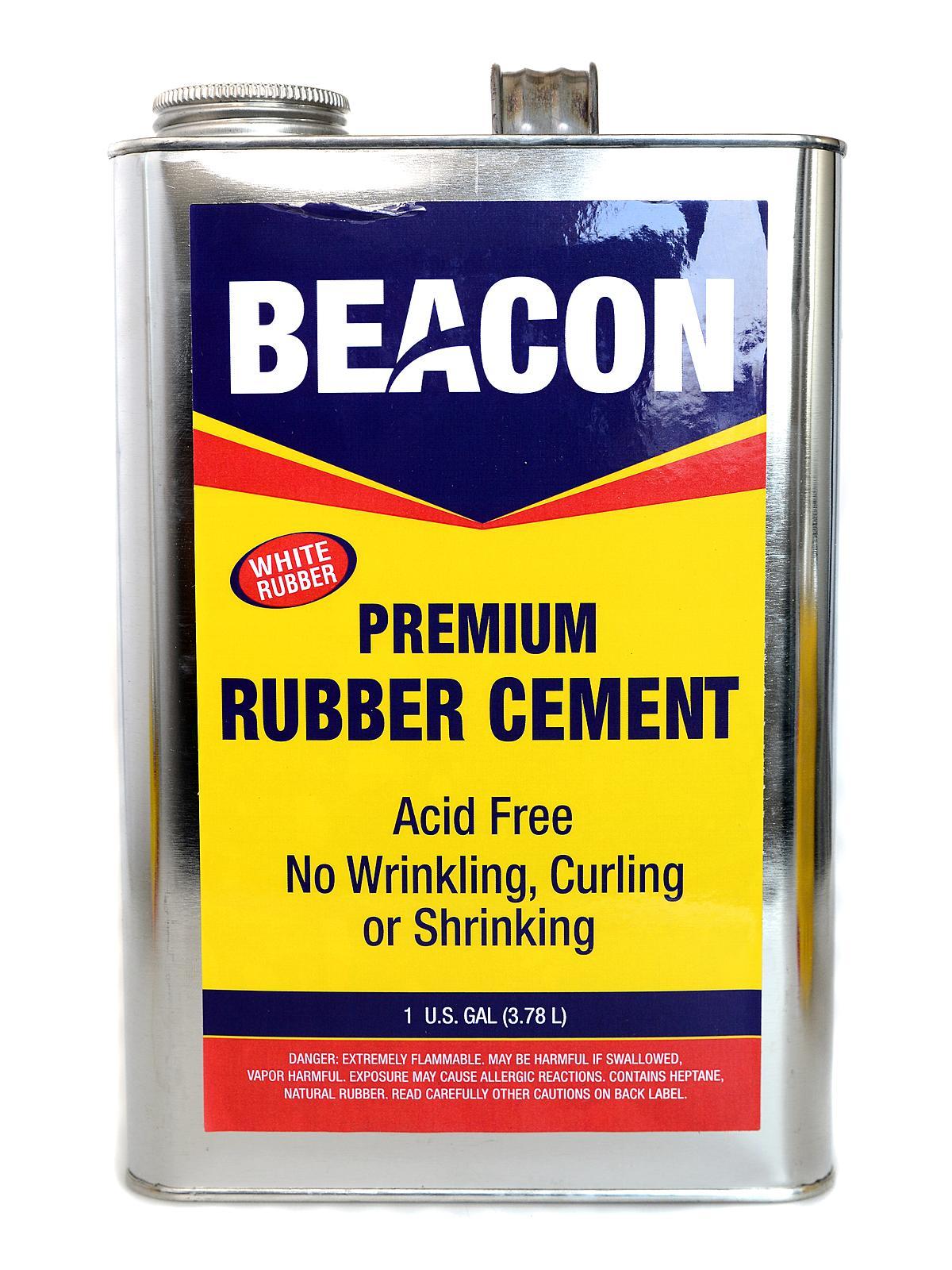 Premium Acid Free White Rubber Cement 128 Oz.