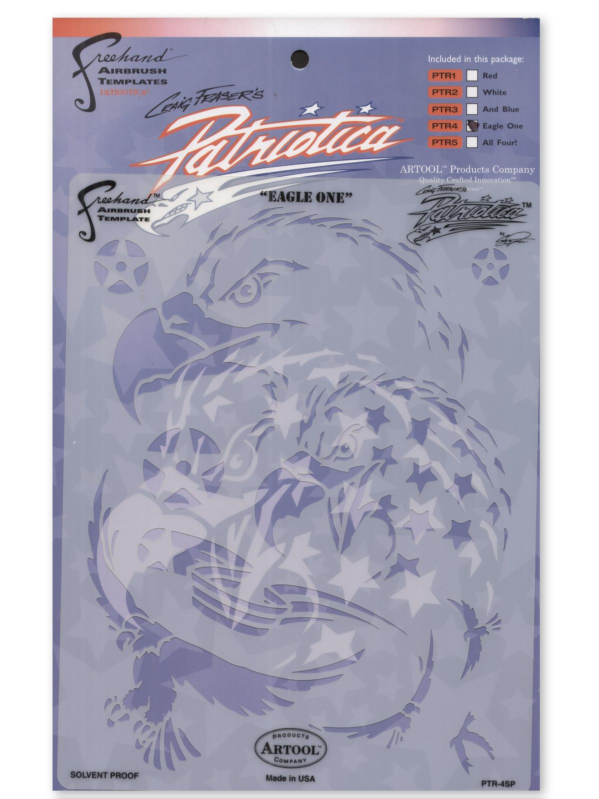 ARTOOL Patriotica Eagle One Freehand Airbrush Template by Craig Fraser