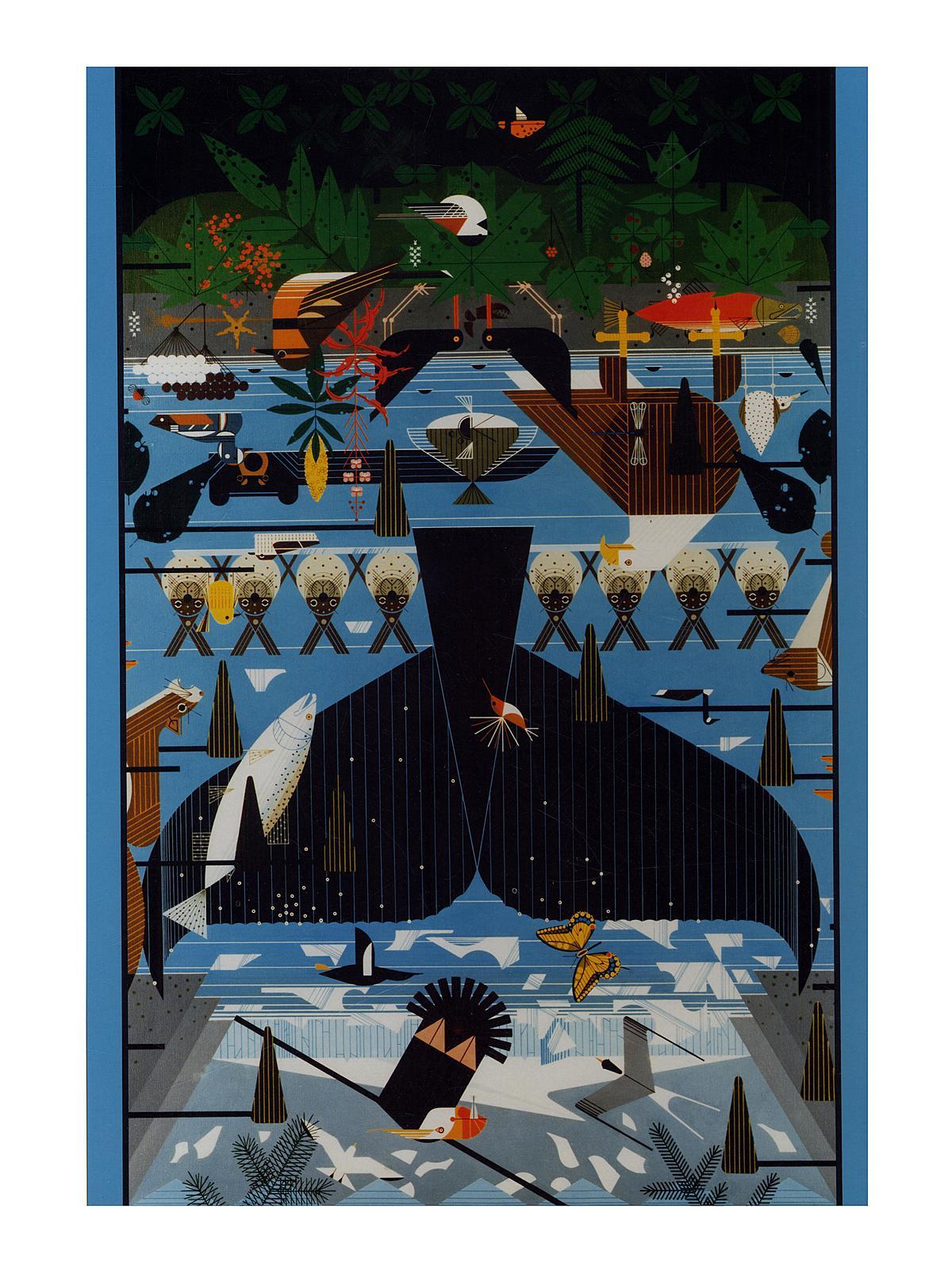 1000-piece Jigsaw Puzzles Charley Harper: Glacier Bay, Alaska