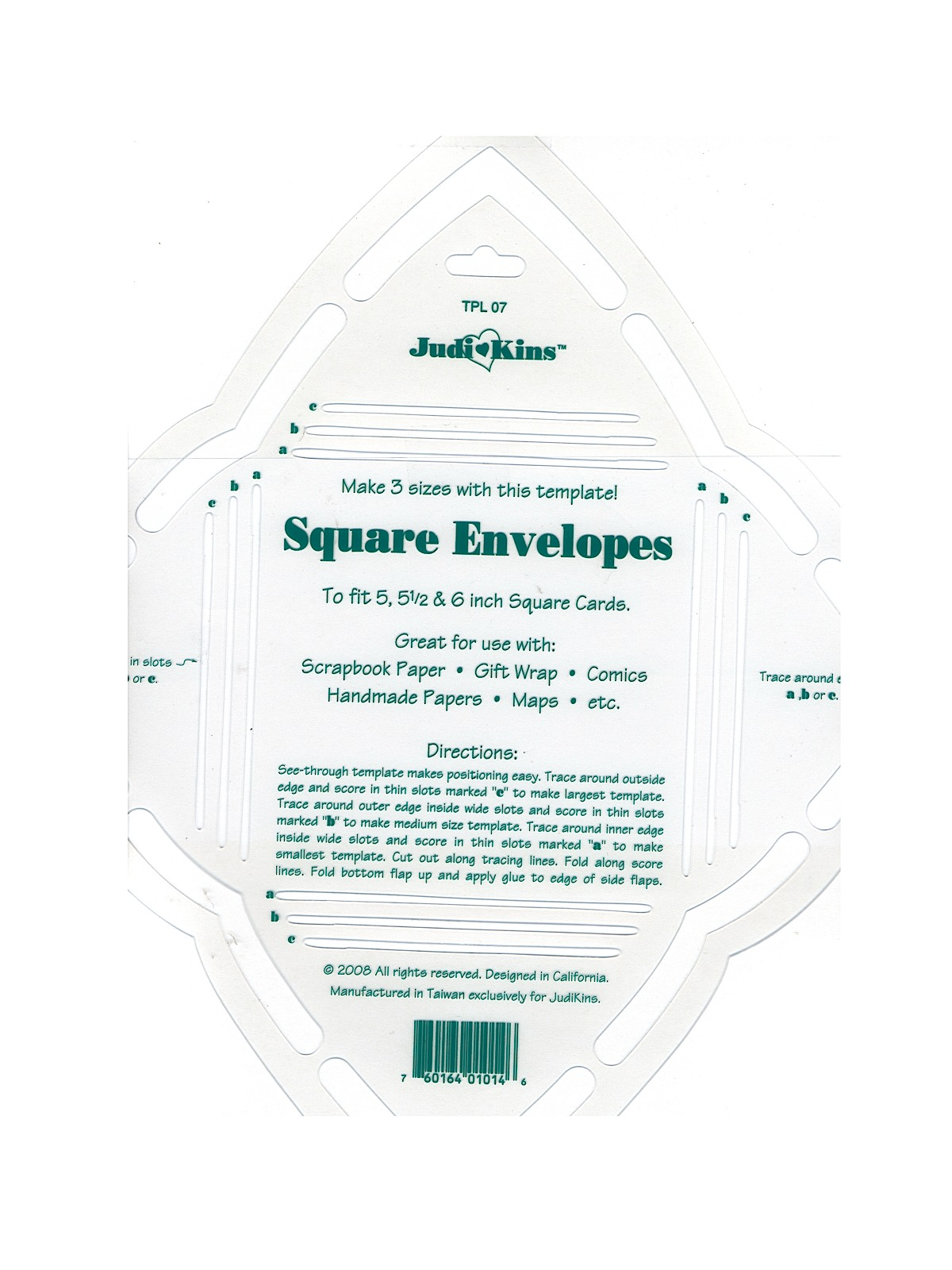 Scrapbook paper envelope template - Envelope Templates Square Template