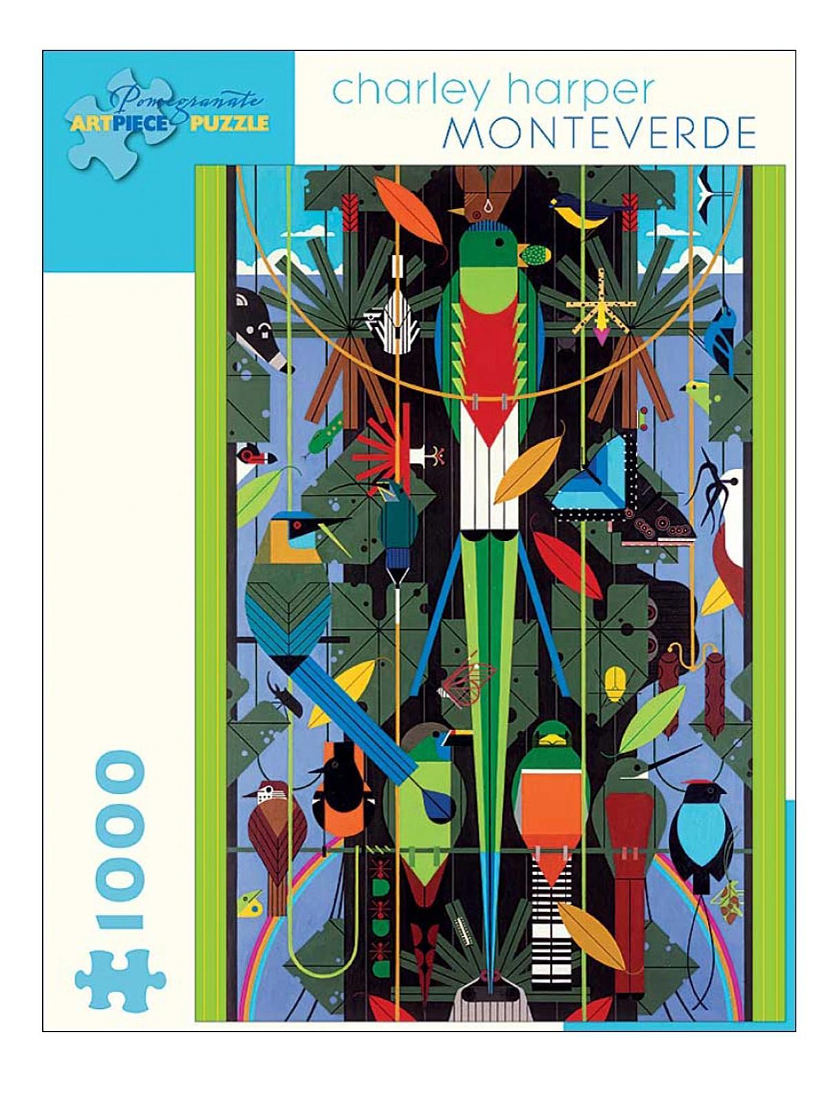 1000-piece Jigsaw Puzzles Charley Harper: Monteverde