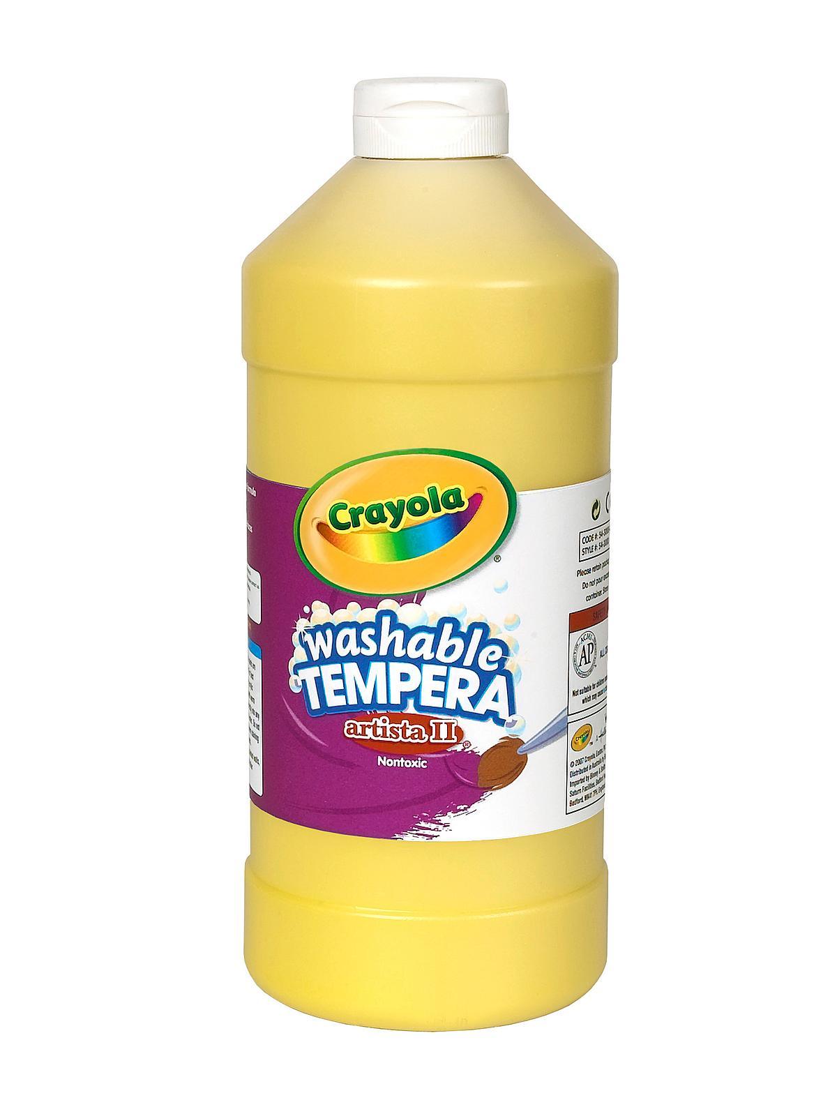 artista ii liquid tempera paint yellow 32 oz