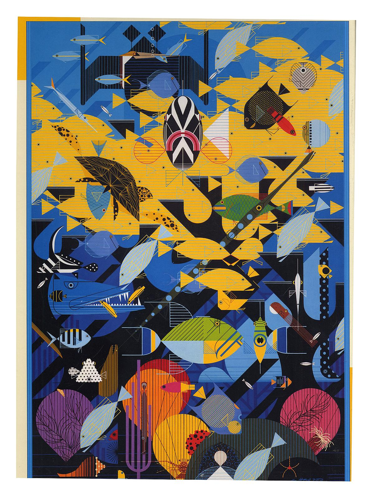 1000-piece Jigsaw Puzzles Charley Harper: Coral Reef