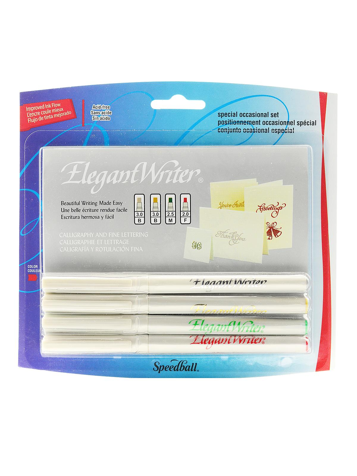 Speedball elegant writer calligraphy marker sets Elegant writer calligraphy pens