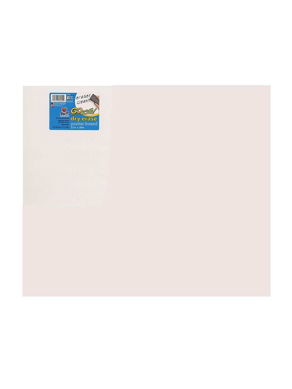 pacon gowrite dry erase poster board misterartcom