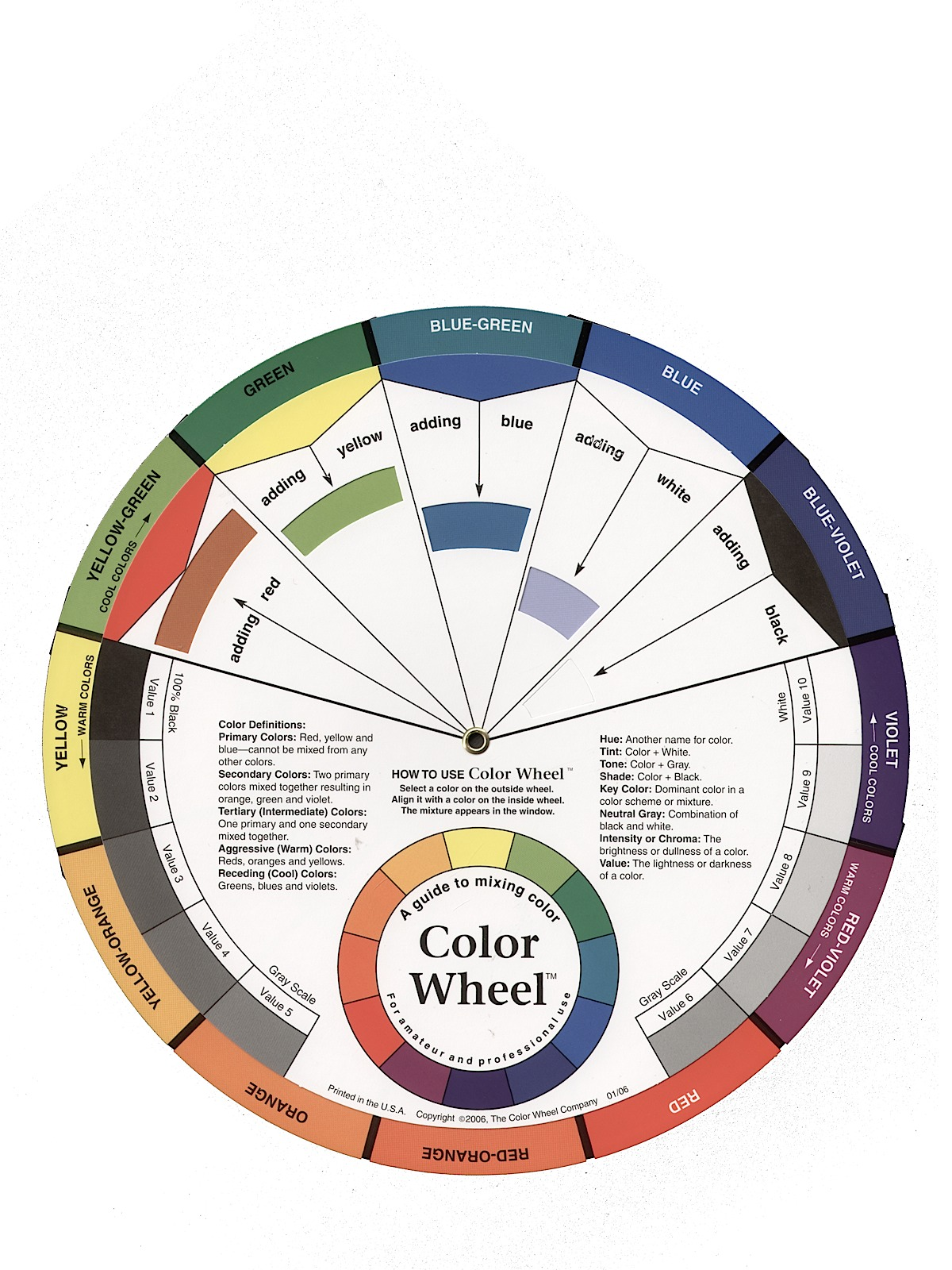 Artist Mixing Guide Color Wheel