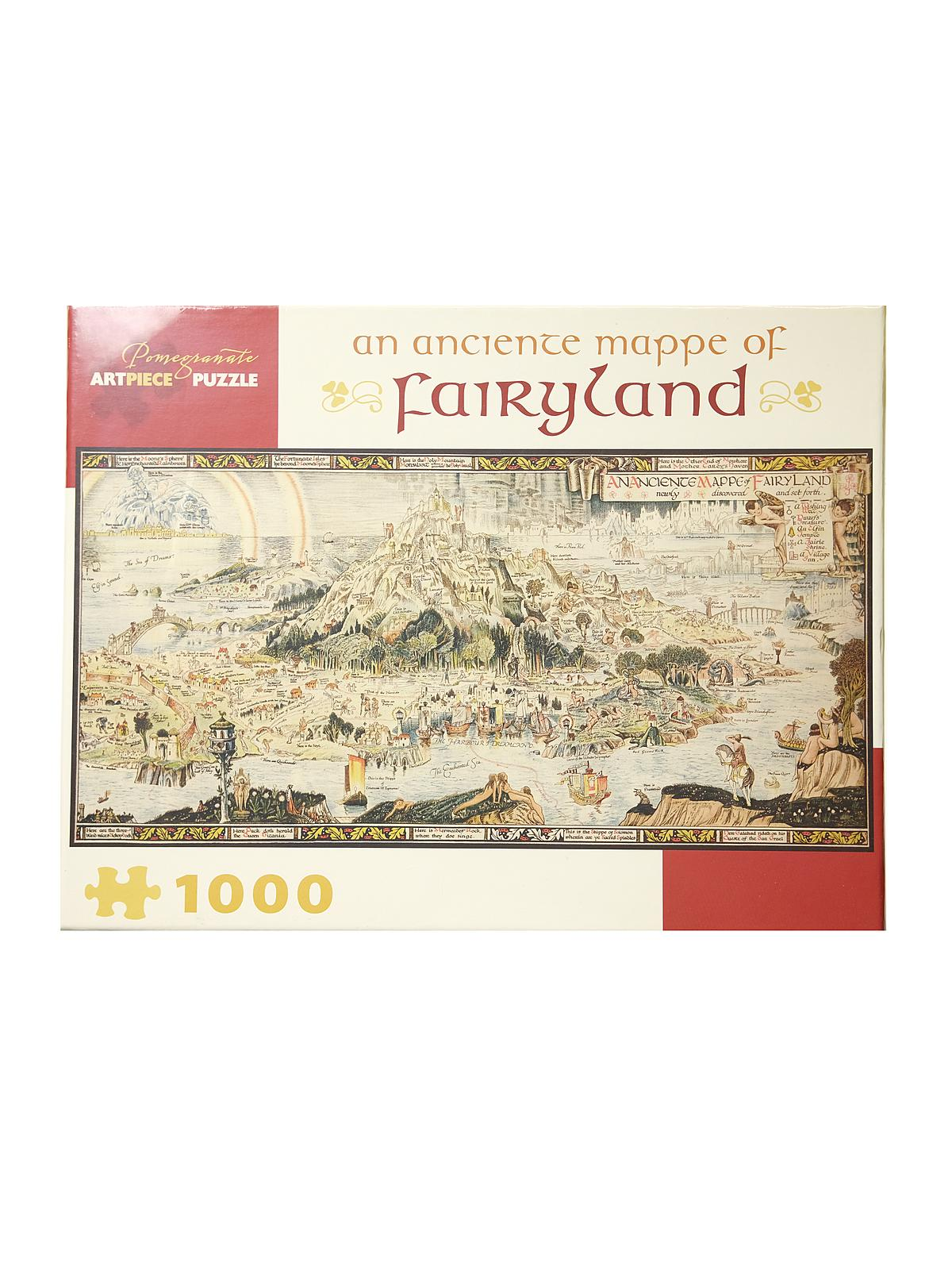 1000-piece Jigsaw Puzzles An Ancient Mappe Of Fairyland