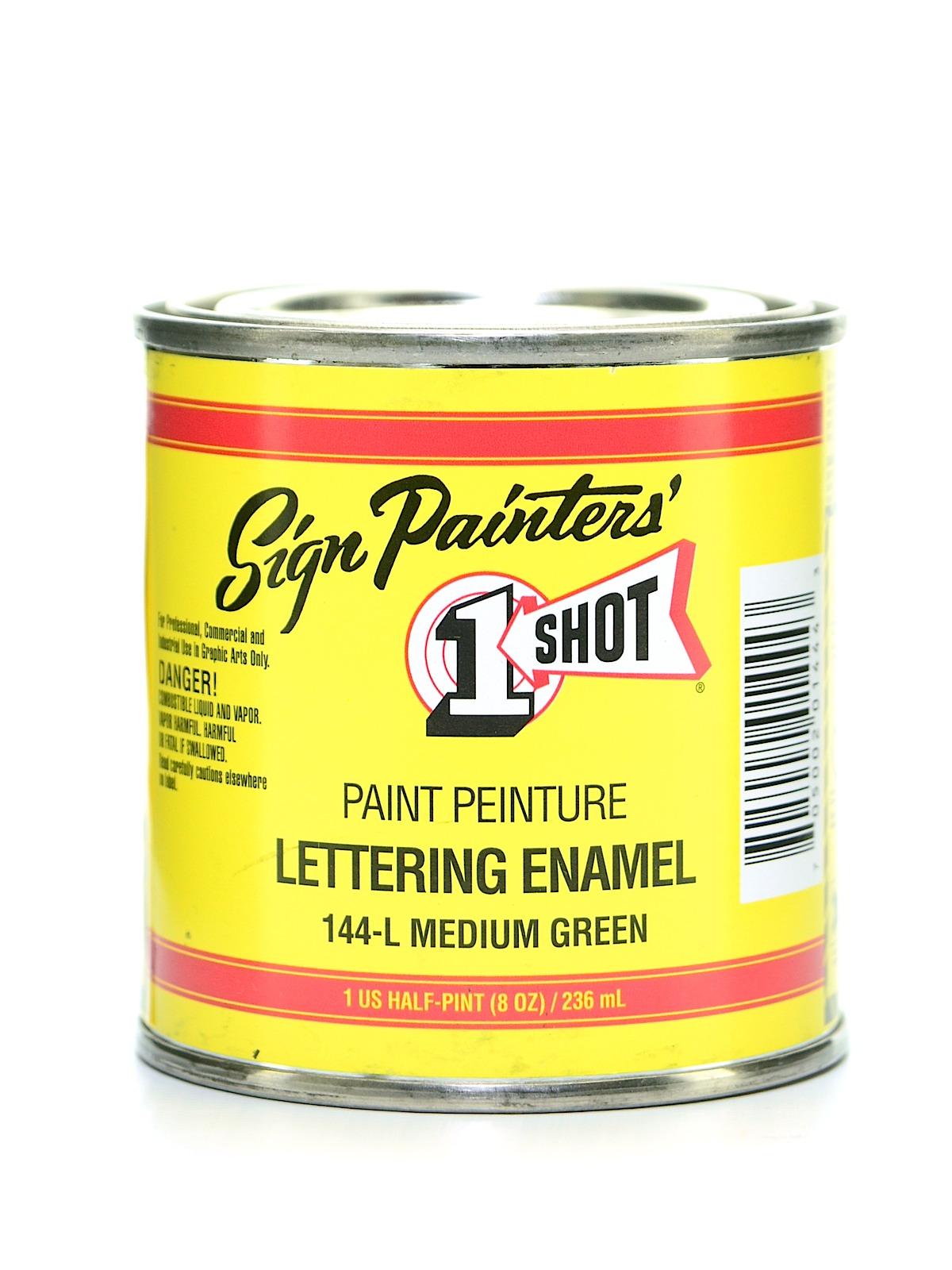 Lettering Enamel Medium Green Half Pint 144l