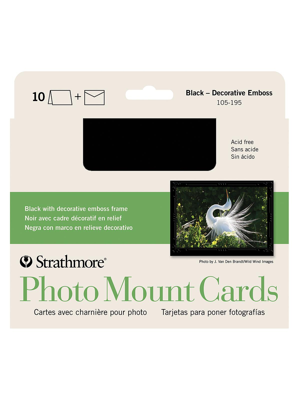 Strathmore photo mount greeting cards misterart photo mount greeting cards black pack of 10 kristyandbryce Image collections