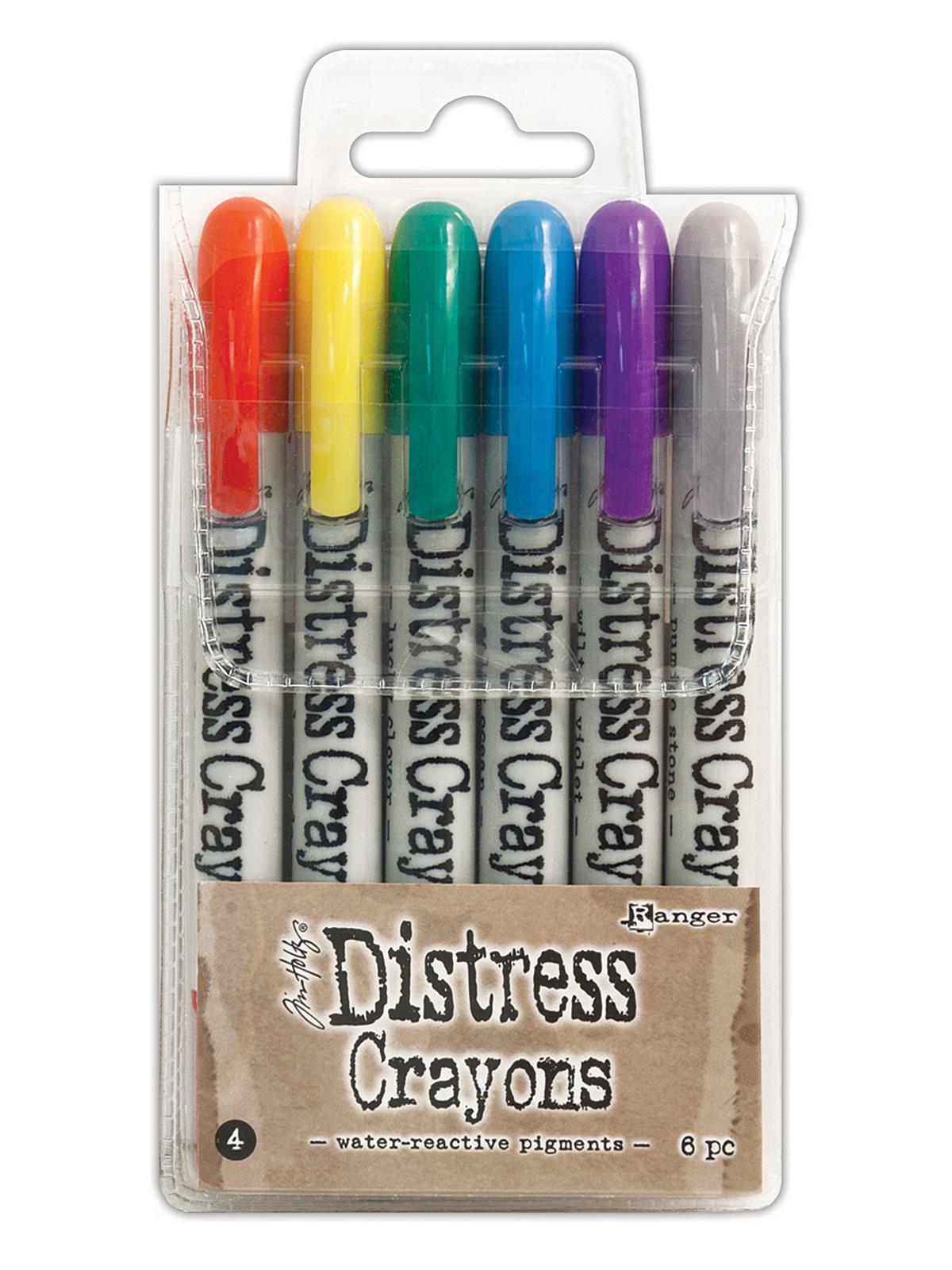 Tim Holtz Distress Crayons Set of 6 #4 /& 5 NEW Lot of 12 Colors Total Bundle