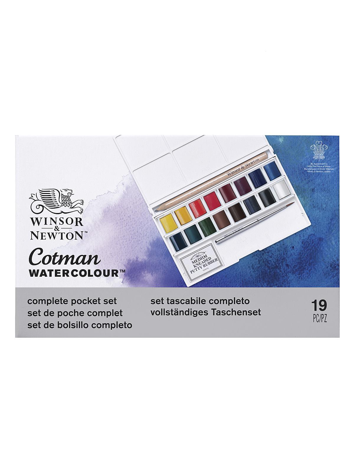 Winsor Newton Cotman Water Colour Deluxe Sketchers Pocket Box Set Of 20