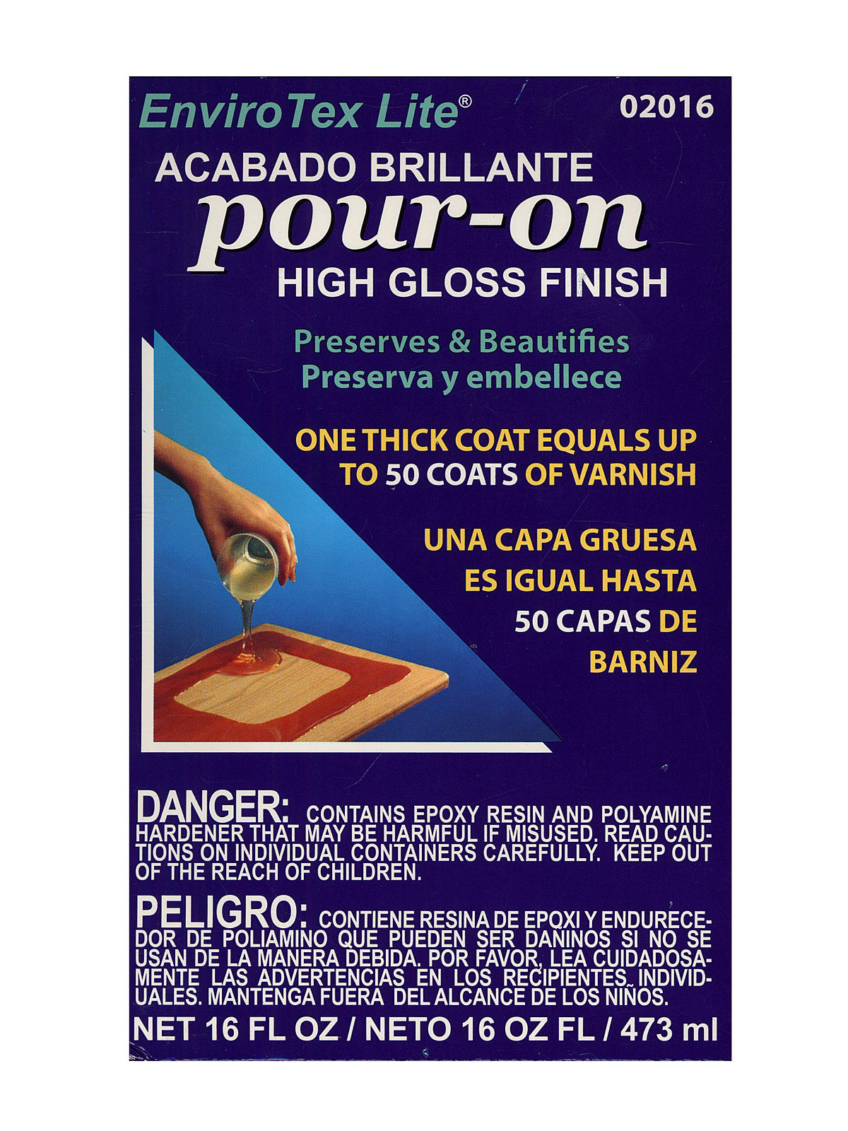 Lite Pour On High Gloss Finish 16 Oz. Kit