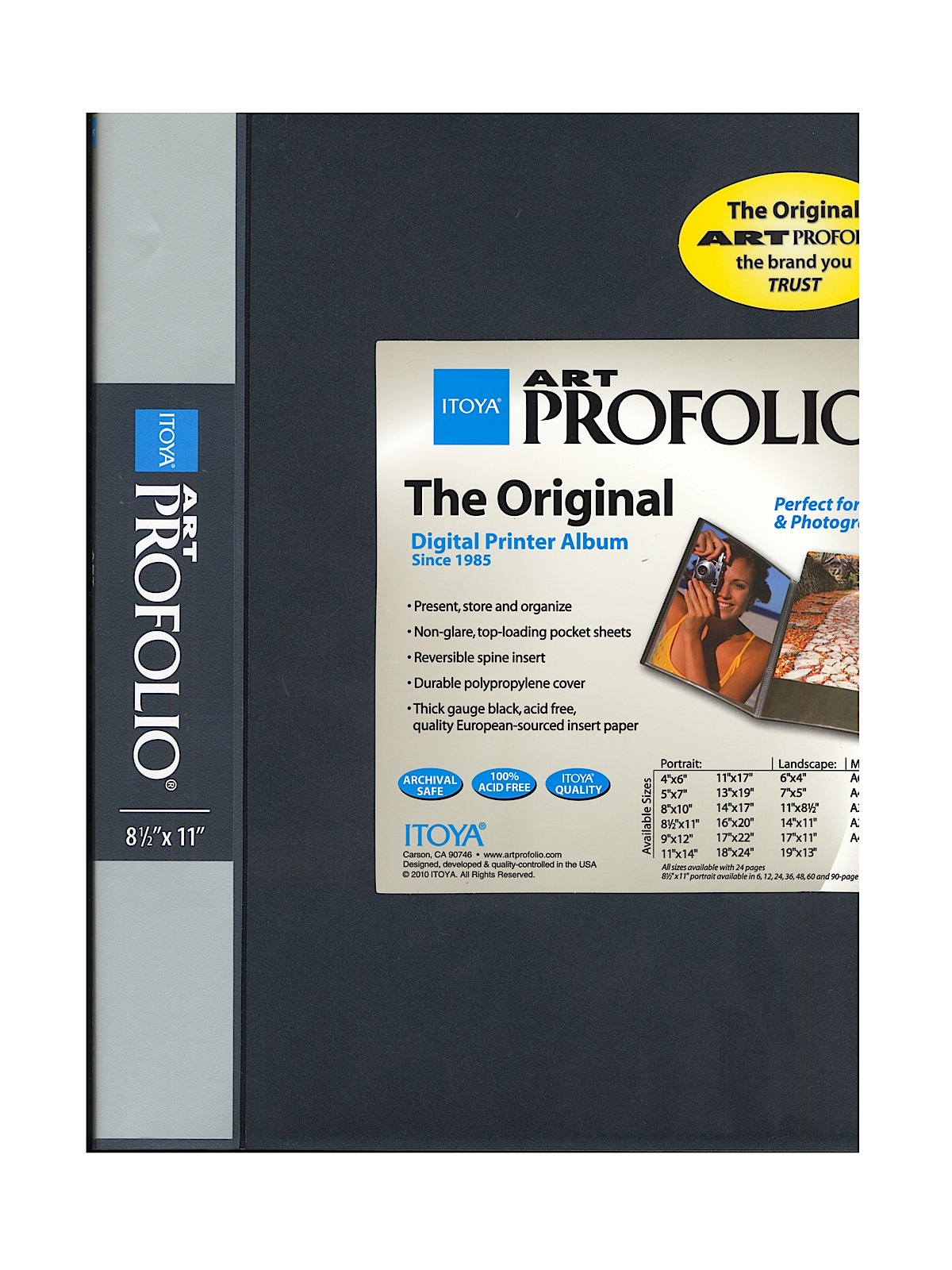 6 pages Itoya Art Profolio Storage//Display Book 8 1//2 in x 11 in.