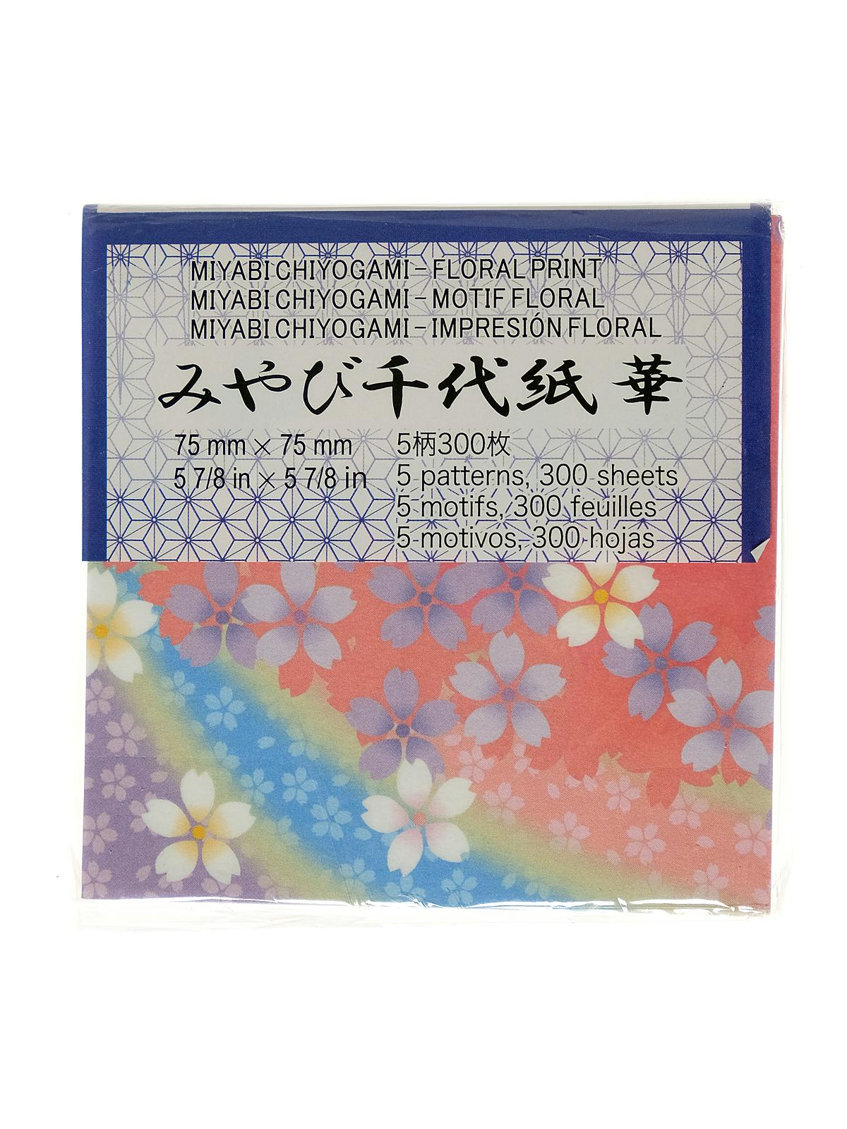 Origami Paper 3 In. X 3 In. Miyabi Chiyogami 300 Sheets