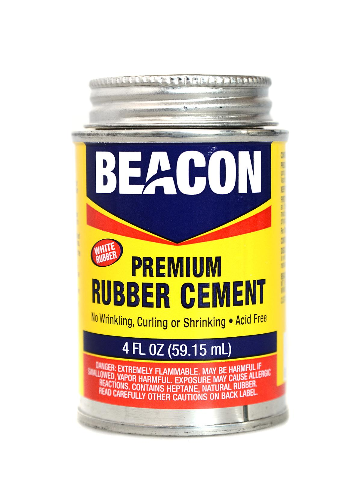 Premium Acid Free White Rubber Cement 4 Oz.