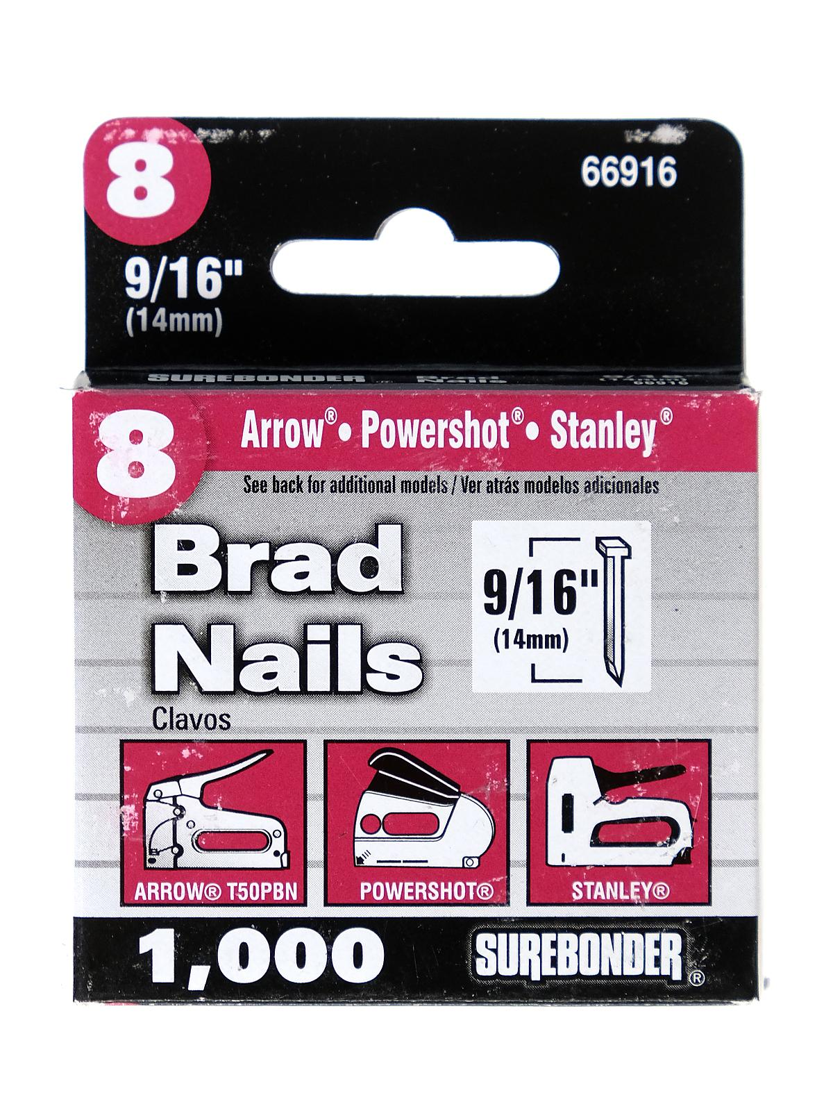 8 Brad Nails 9 16 In Pack Of 1000