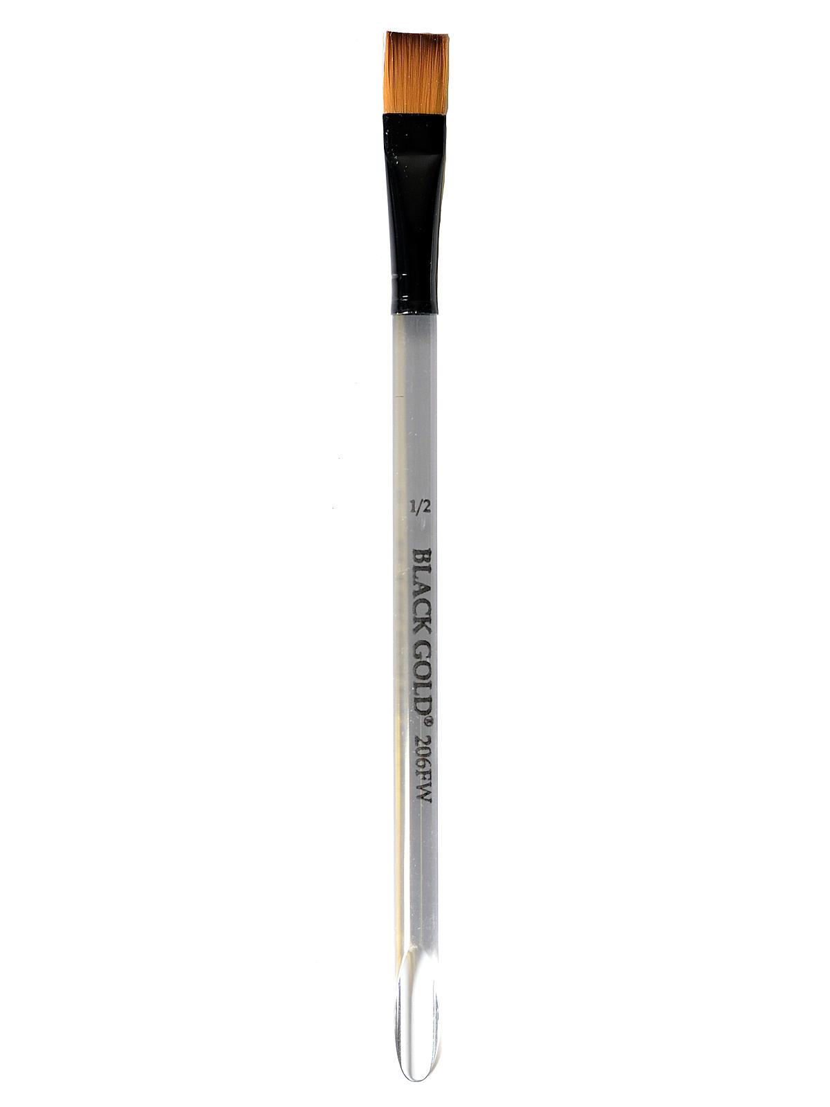 Dynasty Black Gold Series Synthetic Brushes Flat Wash Clear Acrylic ...