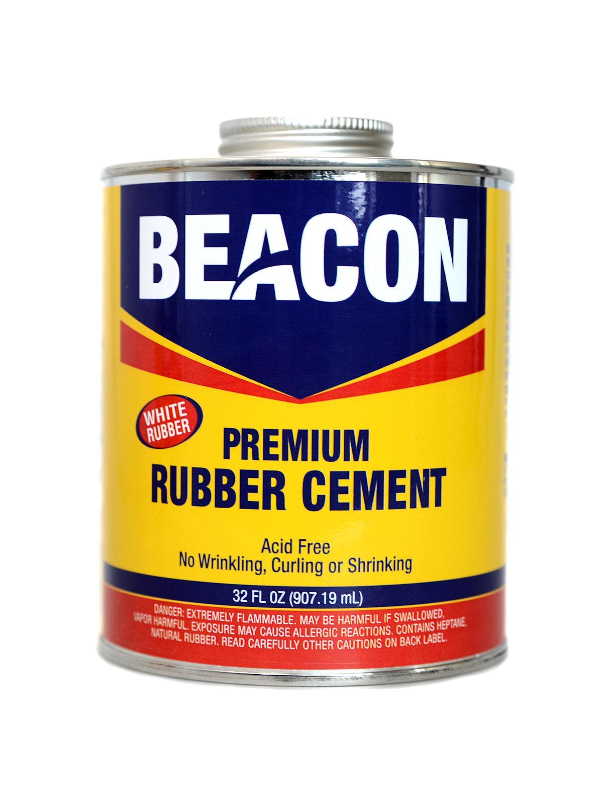 Premium Acid Free White Rubber Cement 32 Oz.
