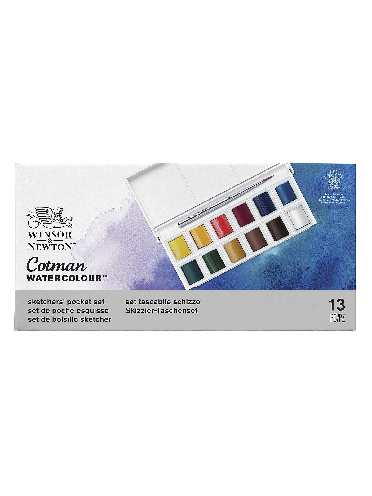 winsor newton cotman water colour sketchers pocket box