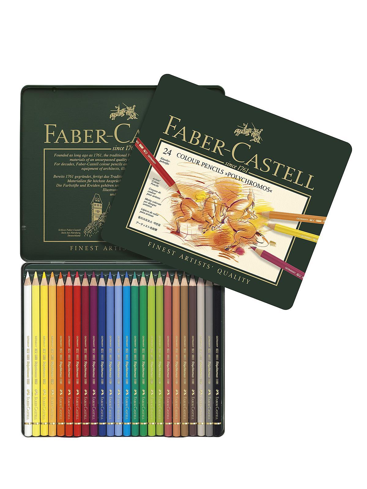 faber castell polychromos colored pencil sets misterart com
