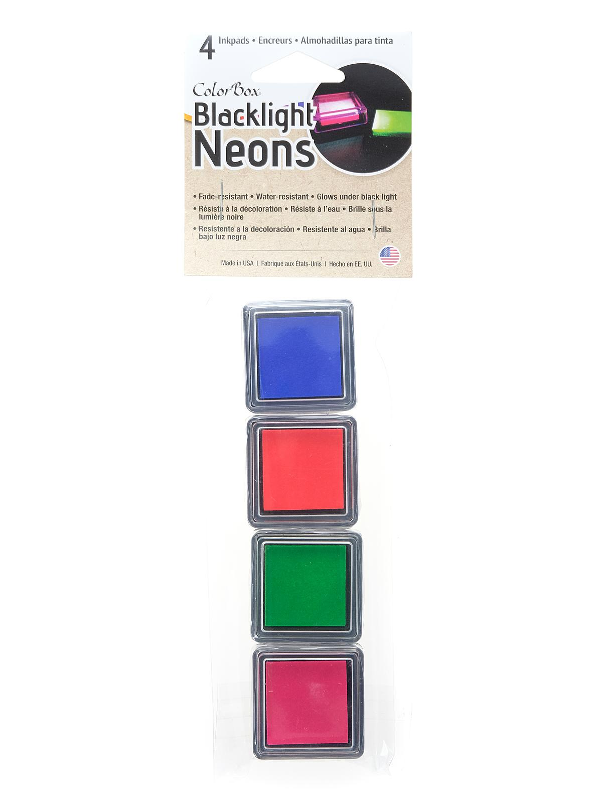 Colorbox Blacklight Neons Set 1 Pack Of 4
