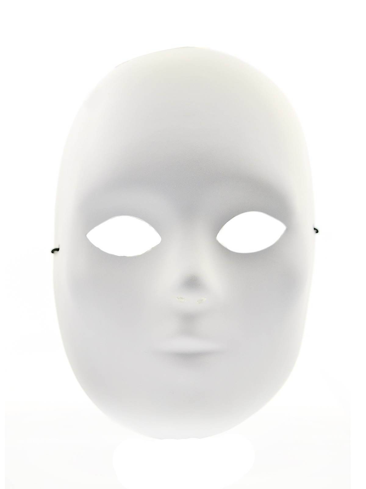 Primed Male Mask 8 1 2 in. white