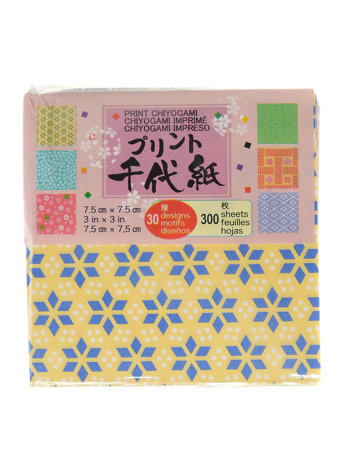 Origami Paper 3 In. X 3 In. Print Chiyogami 300 Sheets