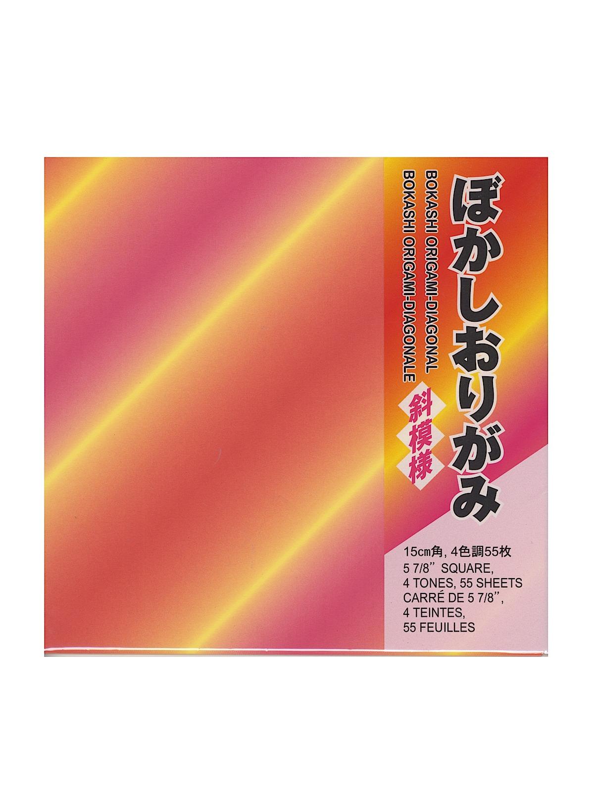 Origami Paper 5 7 8 In. X 5 7 8 In. Diagonal Stripes 55 Sheets