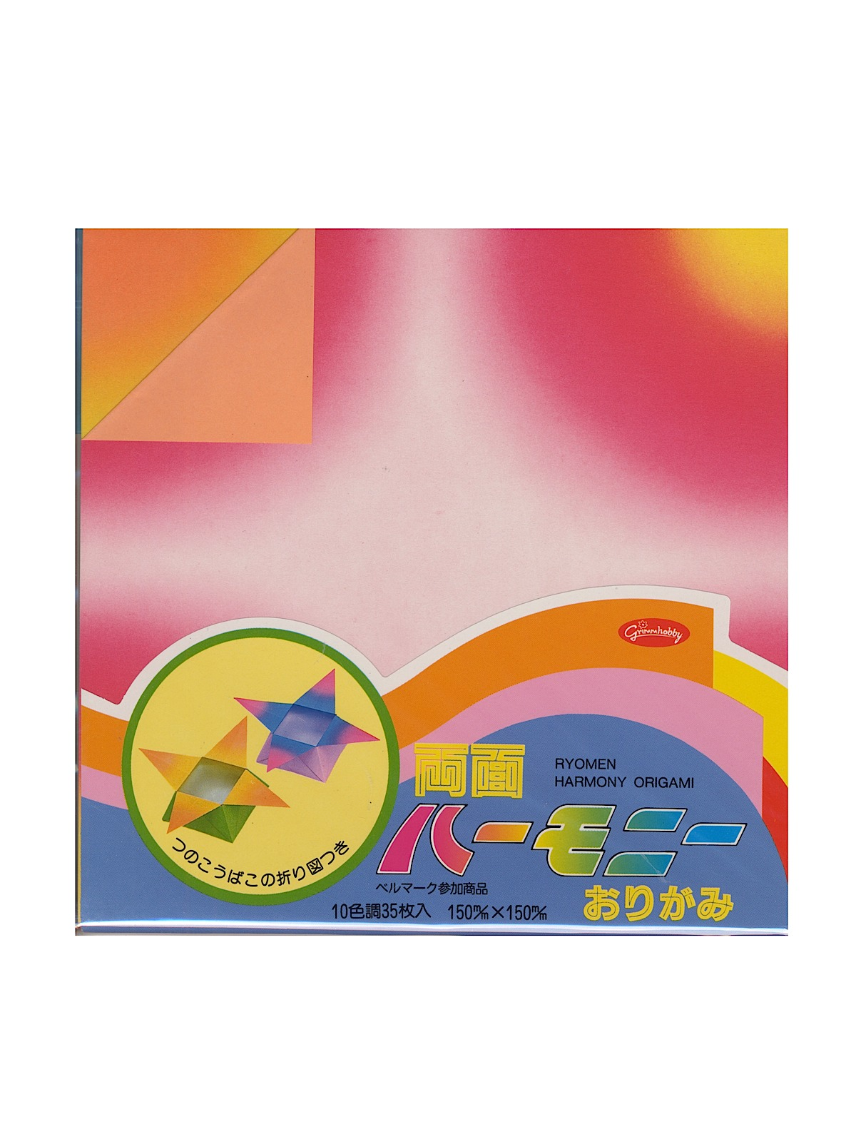 Origami Paper 5 7 8 In. X 5 7 8 In. Double Sided Harmony 35 Sheets