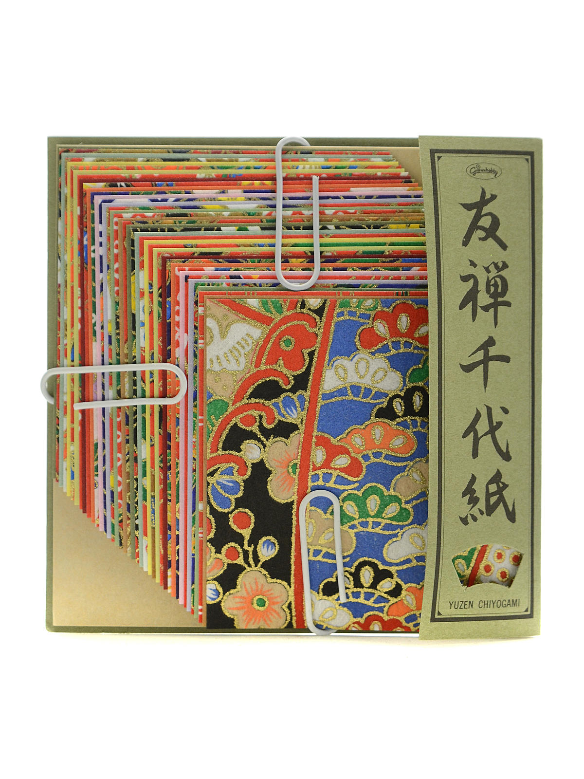 Origami Paper 2 3 8 In. X 2 3 8 In. Yusen Chiyogami Washi 40 Sheets