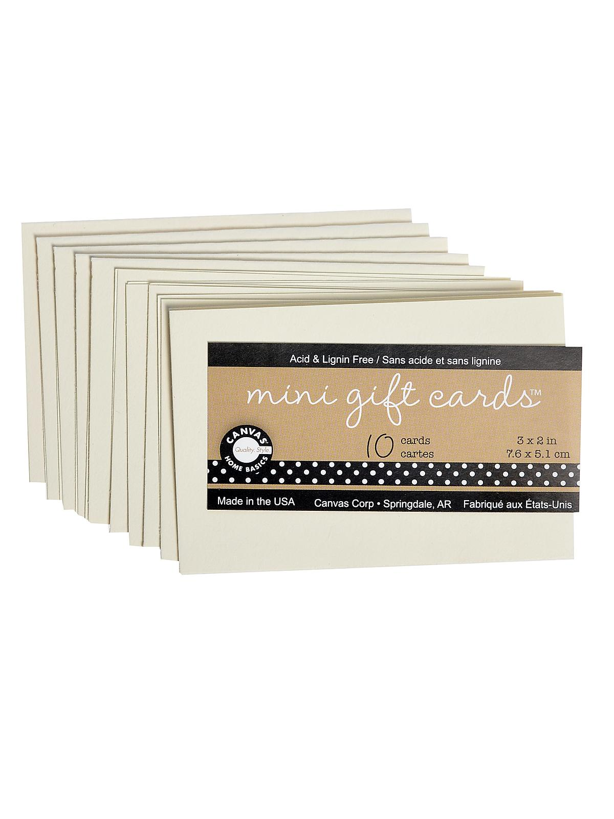 Packaged Cards And Envelopes Mini Gift Cards Ivory 3 In. X 2 In. Pack Of 10