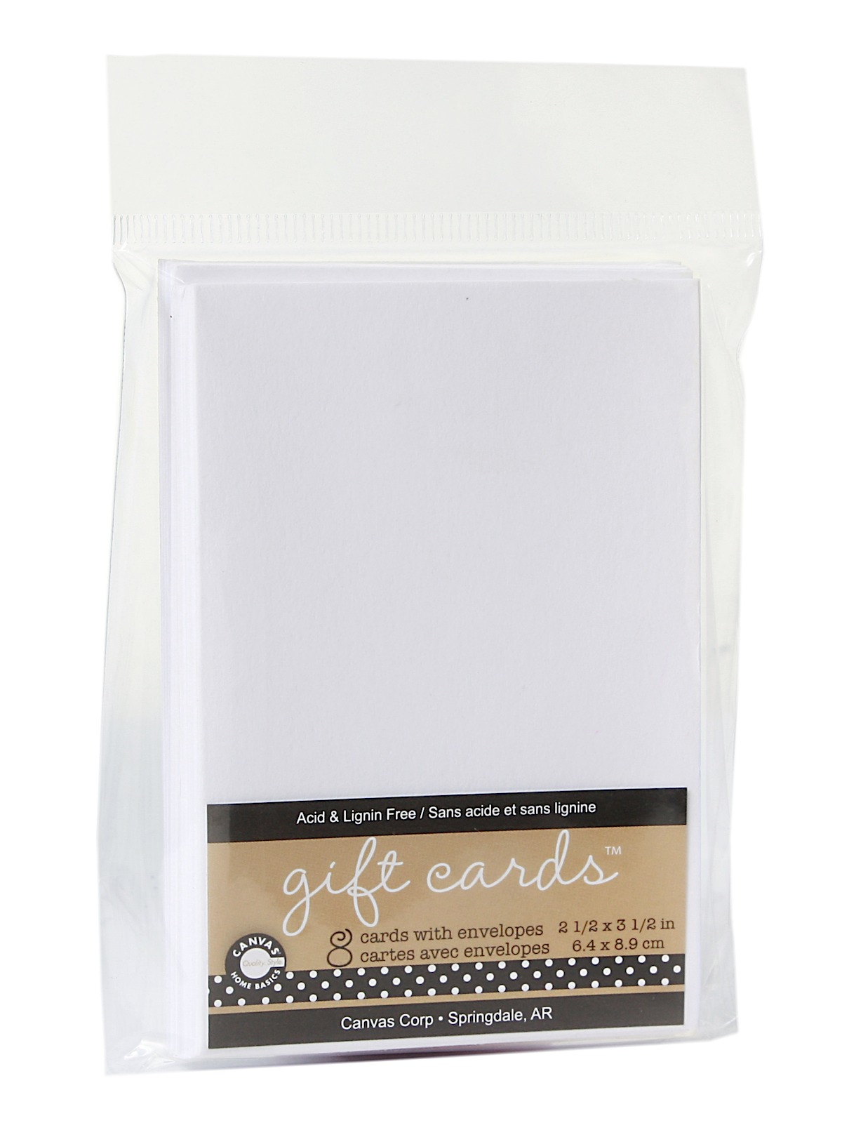 Packaged Cards And Envelopes Gift Cards With Envelopes White 2 1 2 In. X 3 1 2 In. Pack Of 8