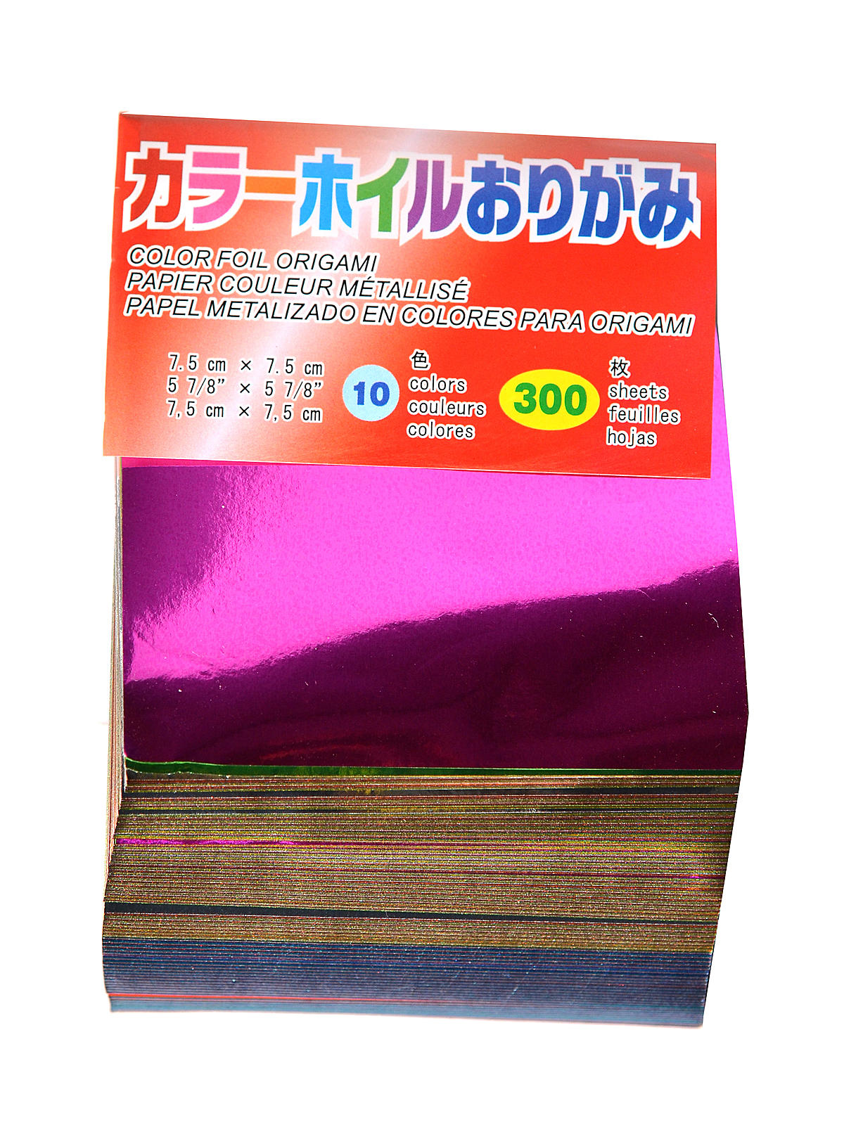 Origami Paper 3 In. X 3 In. Assorted Foil 300 Sheets