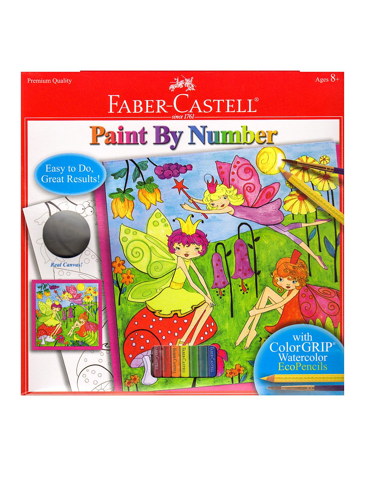Paint by Number with Watercolor Pencils Kits fairy garden