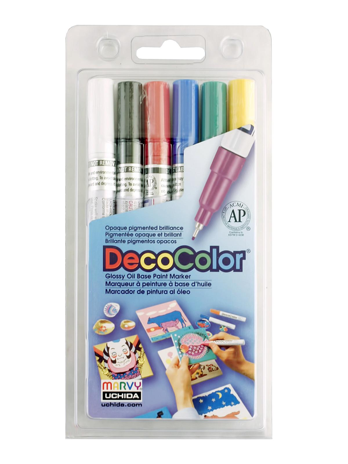 DecoColor Paint Marker Sets extra fine primary set of 6