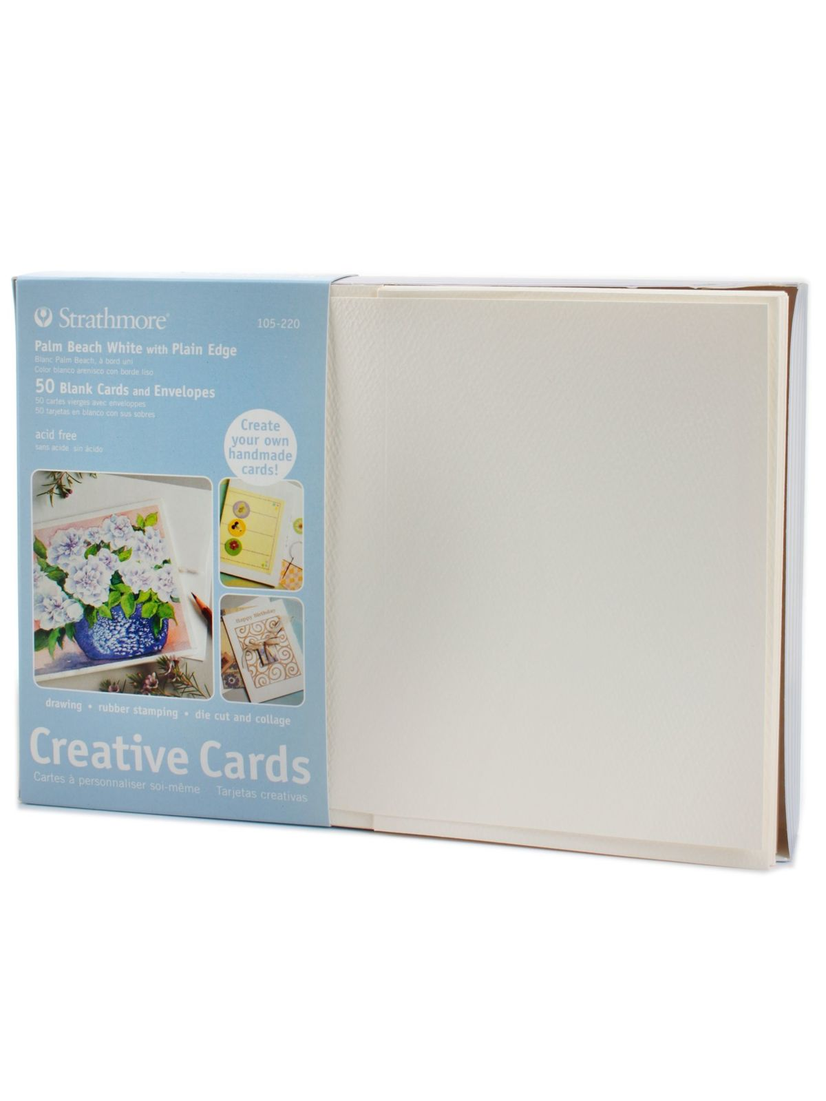 Strathmore blank greeting cards with envelopes misterart blank greeting cards with envelopes palm beach white with no deckle pack of 50 m4hsunfo