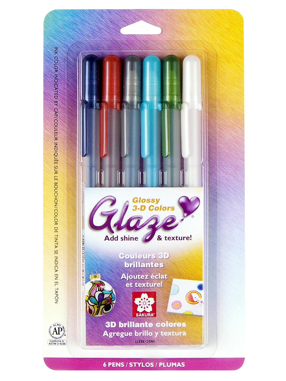Gelly Roll Glaze Pens assorted set of 6