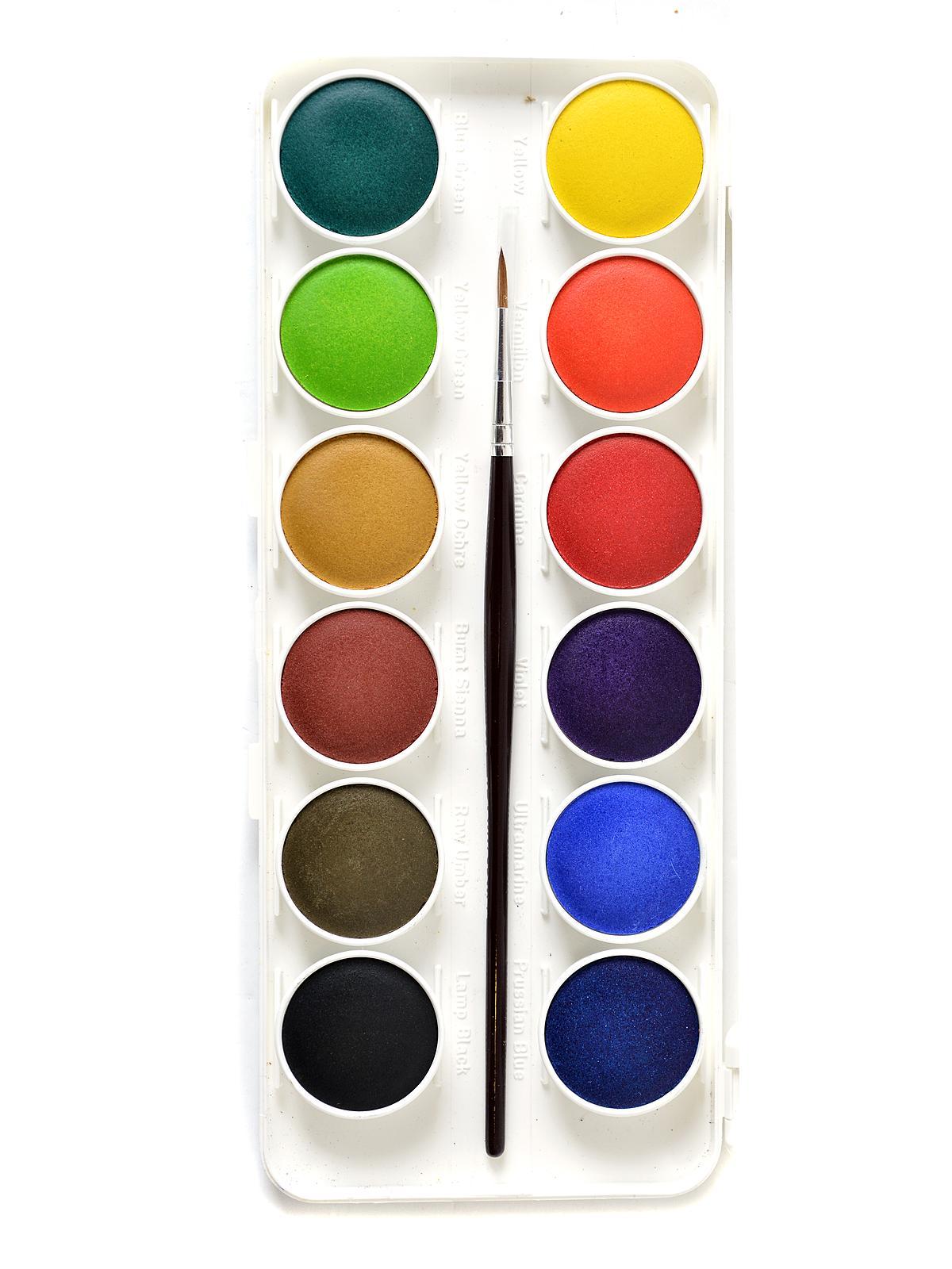 grumbacher deluxe transparent watercolor sets misterart com