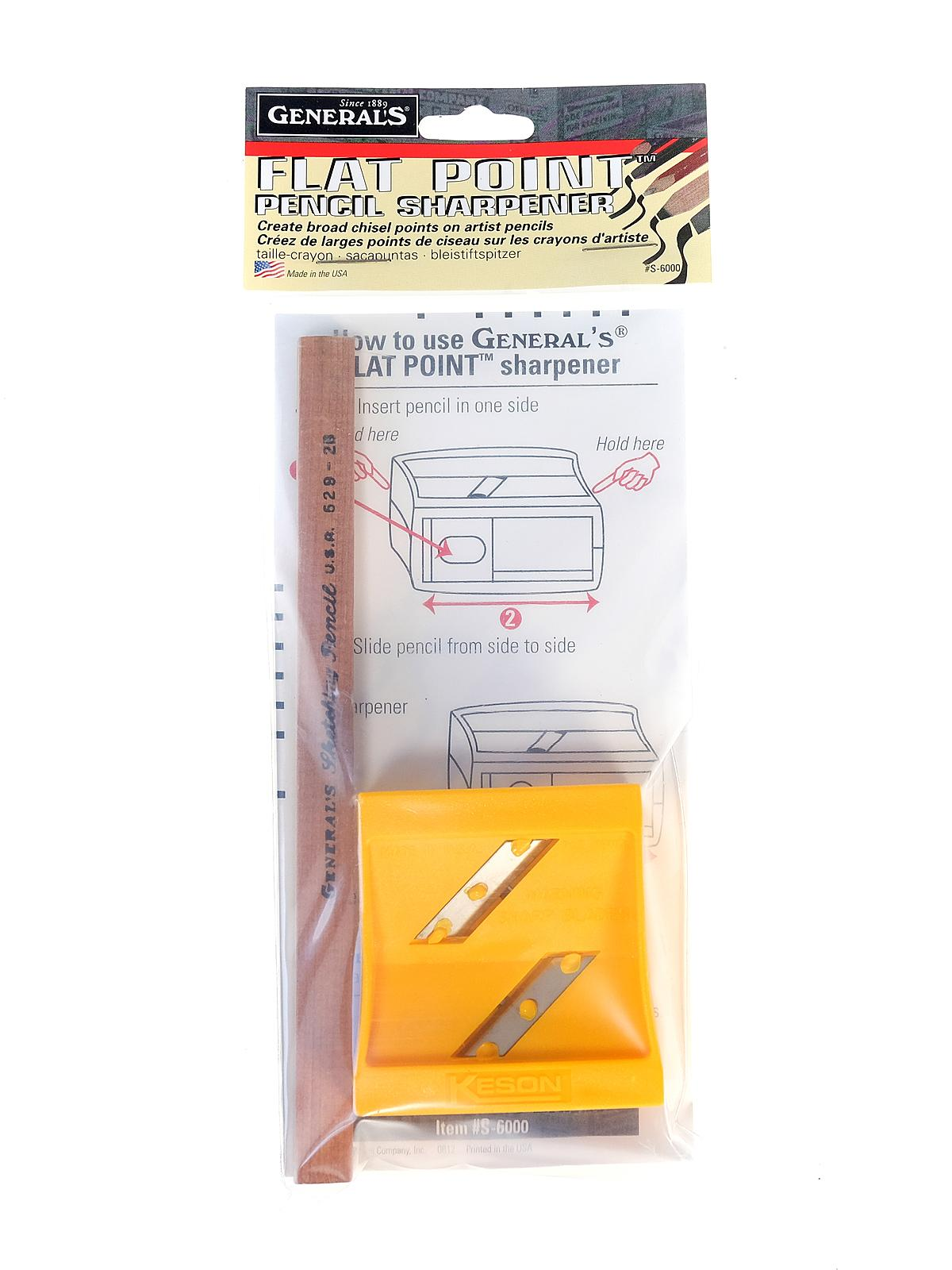 Flat Point Sharpener With Pencil
