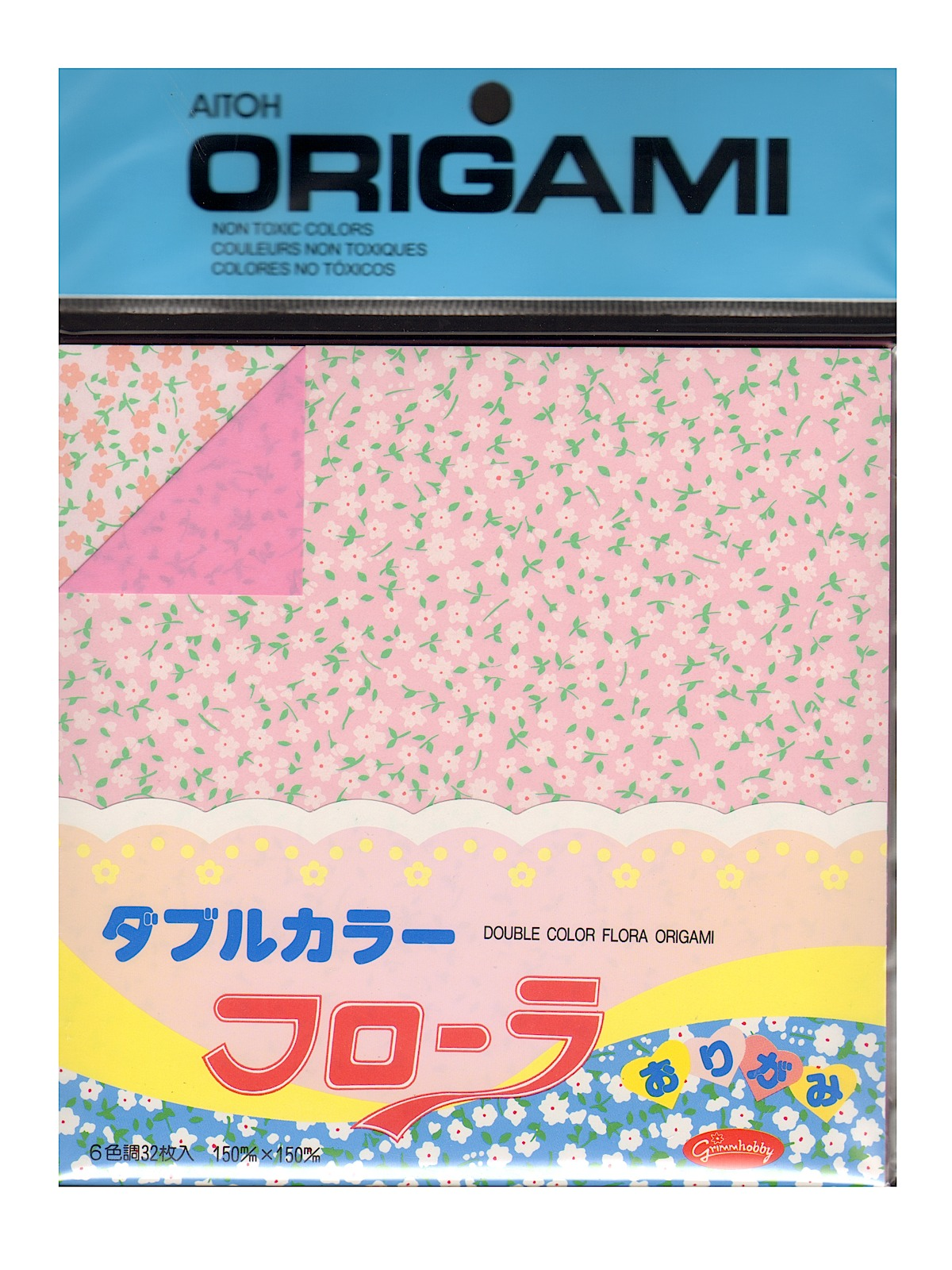 Origami Paper 5 7 8 In. X 5 7 8 In. Double Sided Color Flora 32 Sheets
