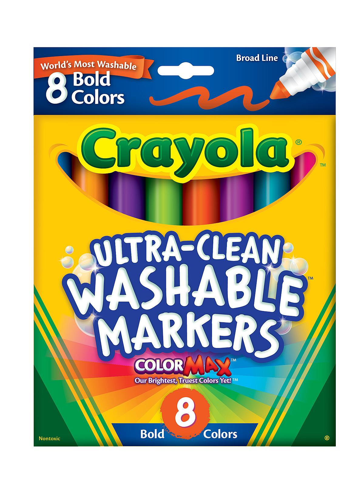 Crayola Bold Colors Ultra-Clean Washable Markers | MisterArt.com