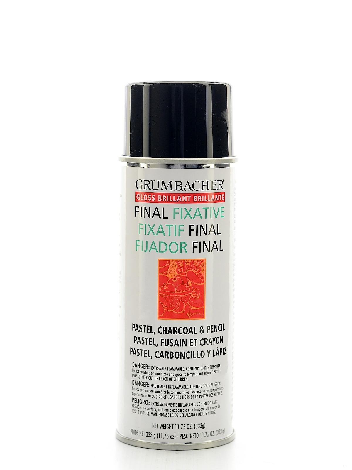 grumbacher hard final spray fixative misterart com