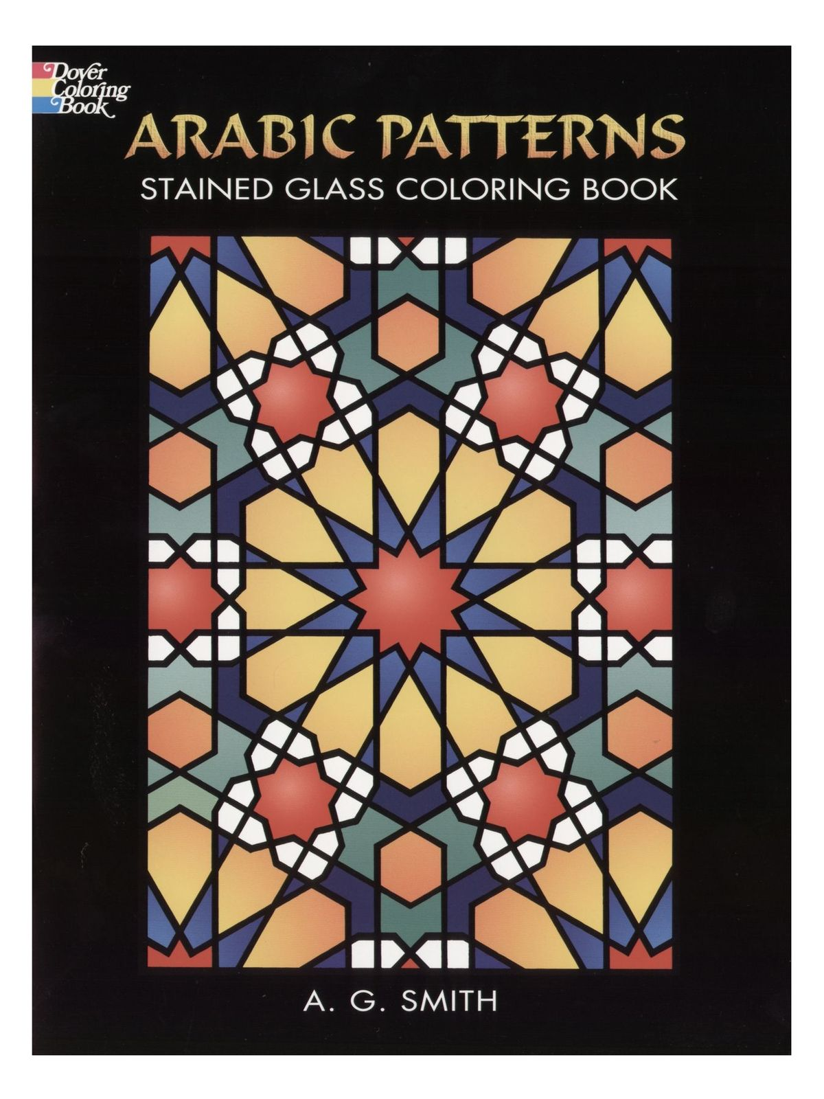 Arabic Patterns Stained Glass Coloring Book   MisterArt.com