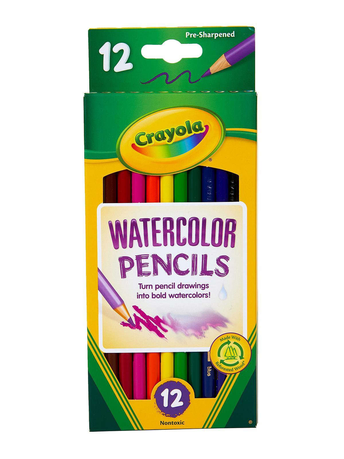 Box Of Colored Pencils : Crayola watercolor colored pencils misterart