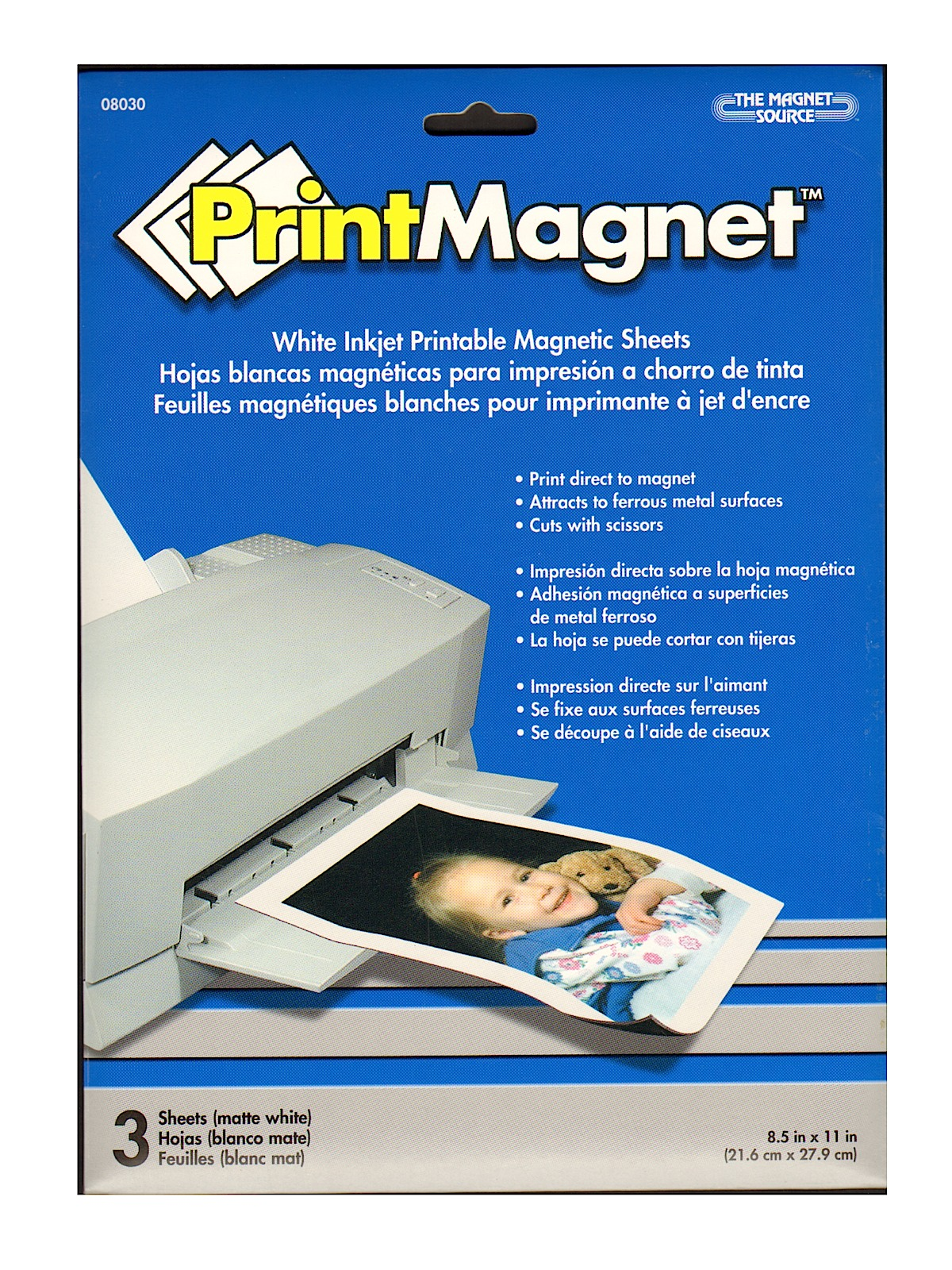 Bright image throughout printable magnet paper