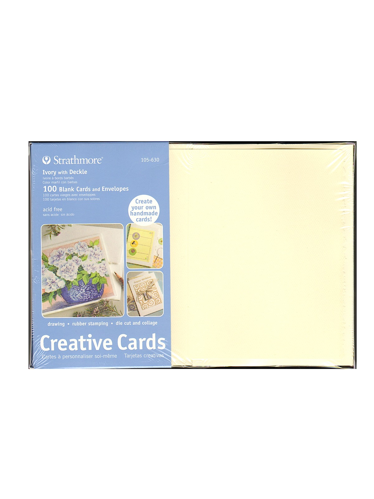 Strathmore blank greeting cards with envelopes misterart blank greeting cards with envelopes ivory with same deckle pack of 100 kristyandbryce Image collections
