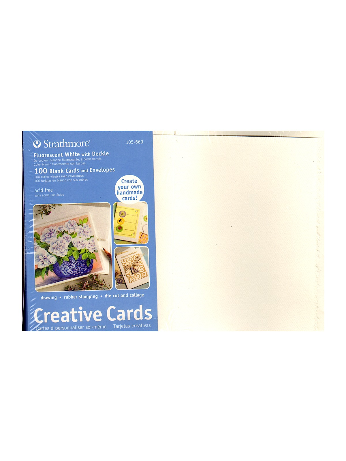 Strathmore blank greeting cards with envelopes misterart blank greeting cards with envelopes fluorescent white with same deckle pack of 100 m4hsunfo